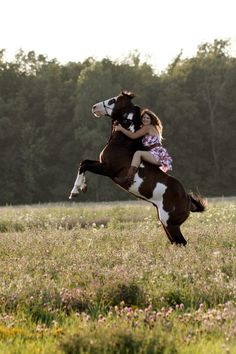 Sure, your horse is rearing and you smile and wave... Ok :) either way it's cute :)