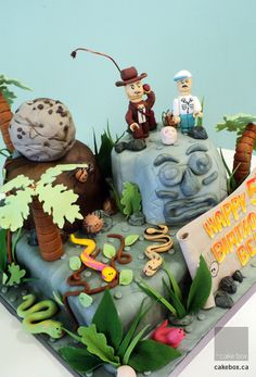 Indiana Jones cake for parkers b day