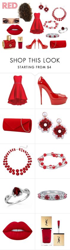 """""""I'm back"""" by hpollyanna ❤ liked on Polyvore featuring Alyce Paris, Casadei, Jewelonfire, BERRICLE, Lime Crime, Yves Saint Laurent and Carolina Herrera"""