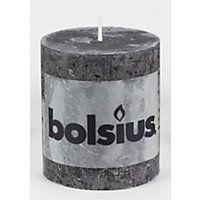 Bolsius Small Rustic Pillar Candle - Anthracite