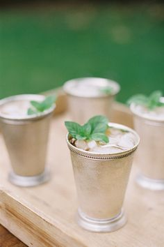 classic mint juleps | Ashley Seawell #wedding