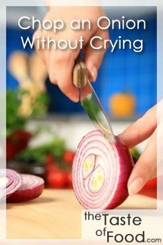 How to Chop an Onion Without Crying