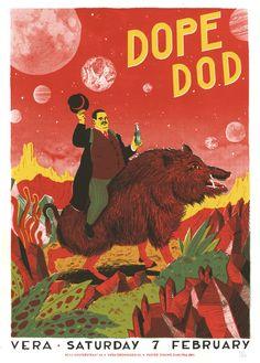 Gig poster Dope DOD ~ Douwe Dijkstra