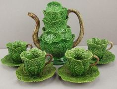 The snake in the cabbage leaf is a popular motif used by several Portuguese Palissy/Majolica makers.