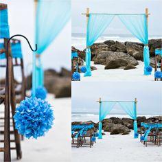 Bamboo Arbor. Beach Wedding. Sun and Sea Beach Weddings.