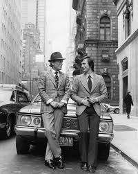 Aldo and Maurizio Gucci outside the New York flagship - 1970s