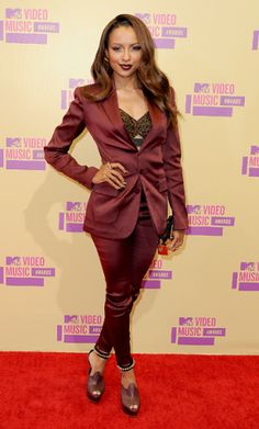 Kat Graham photographed on the red carpet at the 2012 MTV Video Music Awards in Los Angeles. | MTV Photo Gallery