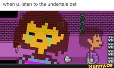 Undertale, OST, Frisk, beautiful, Crying