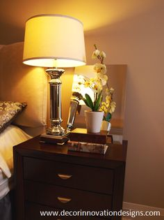 Think combinations of 5 when Decorating or Staging a nightstand