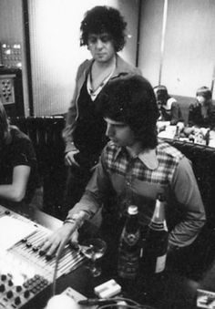 Visconti in the studio with Marc Bolan