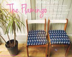 """Aux Meubles de Margaux - Le Blog.: Chaises vintage 1960 retapées """"The Flamingo""""...ou Miami à Montréal !"""