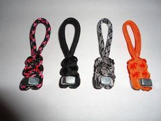 Paracord Zipper perfect para cord pull for jacket, notebook, backpack, and sports bag, lap Paracord Bracelet Survival, Paracord Bracelets, Bracelets For Men, Survival Bracelets, Paracord Zipper Pull, 550 Paracord, Paracord Projects, Paracord Ideas, Girl Scout Crafts
