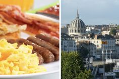 A few bites can take you around the world.  You got: Nantes, France Have you ever read Around The World in 80 Days? Well, this is the city where Jules Verne, the author, was born. Not only does Nantes has a beautiful view and architecture, their local food will definitely not disappoint!