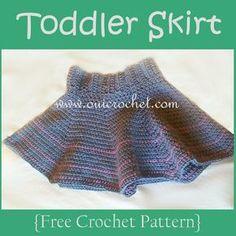Toddler Skirt {Free Crochet Pattern}