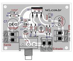 amplificador tda 2050 layout 450x248 Circuito de amplificador de potência com tda2050 para 32 watts circuito audio circuito circuito amplificador