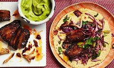 The weekend cook: Thomasina Miers' recipes for Korean-style pork belly, and baked pumpkin cheesecake — the guardian (UK) Korean Pork Belly, Apple Slaw, Pork Belly Recipes, Mexican Food Recipes, Ethnic Recipes, Korean Recipes, Savoury Recipes, Savoury Dishes, Baked Pumpkin
