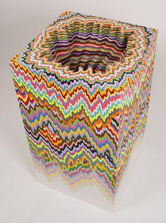 New Mesmerizing Paper Sculptures by Jen Stark at Art Basel 2014 - via 'MyModernMet.com'★★★