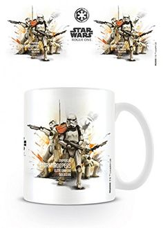 Set Star Wars Rogue One Stormtrooper Profile Photo Coffee Mug 4x3 inches And 1x 1art1 Surprise Sticker -- Check out this great product.