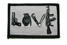 Shades of Gray Tactical Store - Love My Guns and Knives Morale Patch with velcro back, $5.99 (http://www.shadez-of-gray.com/clothing-apparel/morale-patches/love-my-guns-and-knives-morale-patch-with-velcro-back/)