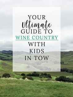 Traveling to wine country and want to bring your kids? No worries, check out this compiled list of all the things to do in Sonoma with your kids! Head over for the ultimate wine country travel guide!