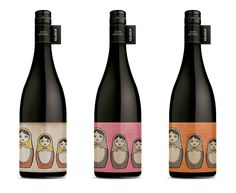 'Frisky Midget' Wine Labels for Killinchy Wines. Brand development by Studio Lost & Found.
