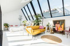 Un loft de style industriel à Amsterdam Amsterdam, Turbulence Deco, Gravity Home, Interior Architecture, Interior Design, Loft House, Bedroom Lighting, Light Bedroom, Piece A Vivre