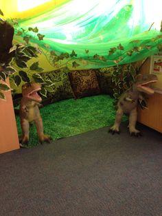 Dinosaur den Reading Corner Classroom, Year 1 Classroom, Eyfs Classroom, Classroom Projects, Classroom Displays, Classroom Themes, Classroom Activities, Reading Themes, Reading Areas