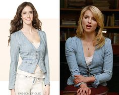 Juicy Couture Chambray Jacket - $99.99 Worn with: Anthropologie skirt, Urban Outfitters boots Also worn in: 3x07 'I Kissed a Girl' with Anthropologie dress, Anthropologie boots