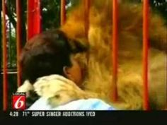 The hug of the century - YouTube Don't you love the way he reacts with hugs and kisses. Animals never forget a kindness...