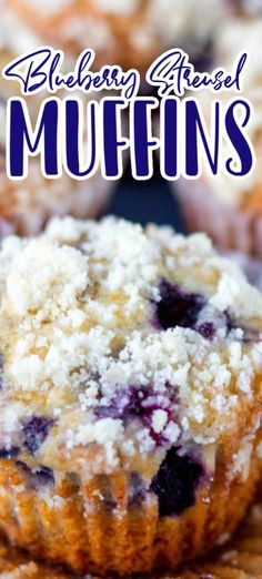 Blueberry Crumble Muffins, Gluten Free Blueberry Muffins, Homemade Blueberry Muffins, Blueberry Cookies, Blueberry Desserts, Blue Berry Muffins, Blueberry Strudel, Streusel Topping For Muffins, Blueberries Muffins