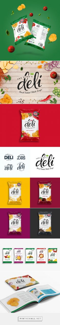 The King's Deli crisps by Double D Creative / Lilly Parr (Graphic Designer) & Tom Dent (Art Direction). Pin curated by Chip Packaging, Dessert Packaging, Food Packaging Design, Packaging Design Inspiration, Brand Packaging, Branding Design, Logo Design, Graphic Design, Advertising Design