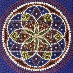 "12"" square mandala with Seed of Life motif. On sale at MandalaMadness111.etsy.com"
