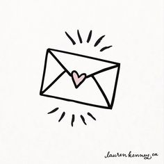 A whole pile of letterbox love is headed out into Funny Easy Drawings, Small Easy Drawings, Cute Little Drawings, Mini Drawings, Easy Drawings For Beginners, Art Drawings Sketches, Kawaii Drawings, Love Drawings, Small Doodle