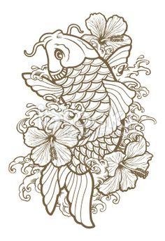 colorful koi fish tattoo - Google Search