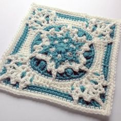 Amazing!! Blizzard Warning Square Crochet Pattern   This textured snowflake square will make any afghan pop!