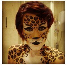 Fasching leopard face paint Is Paneling Walls good for Home Improvement? Leopard Face Paint, Leopard Makeup, Cheetah Face, Fox Makeup, Animal Makeup, Face Paint Makeup, Zombie Makeup, Scary Makeup, Scary Halloween Costumes