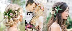 1.Menyasszonyi frizura virágokkal