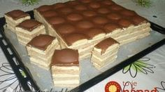 Piškótové Tango rezy s pudingovým krémom! Czech Desserts, Cookie Desserts, Sweet Cookies, Sweet Treats, Tango, Czech Recipes, Hungarian Recipes, Healthy Sweets, Sweet And Salty