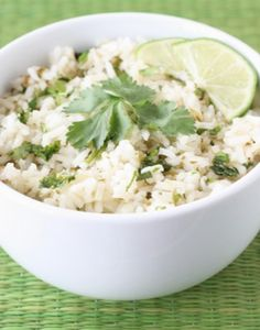 Easy Cilantro Lime Rice Recipe on twopeasandtheirpod.com Tastes like Chipotle's rice and it's so easy to make at home!