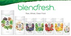 Blendfresh products: pure, clean, raw and organic. Fresh-dried and full of nutrients (life).