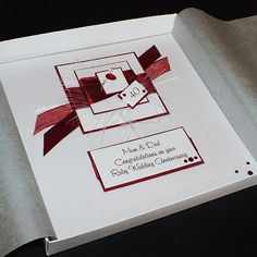 Personalised Boxed Ruby (40th) Wedding Anniversary Card for Mum & Dad, Grandparents or friends. by PurpleMountainCards on Etsy