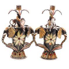 Ardmore ceramics: Elephant Candlesticks