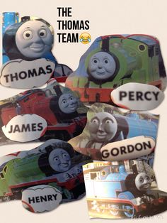This is just too funny. Made this poster from taking photos of the characters display in a children's book called Thomas gets bumped.....BUT LOOK AT THE FACES!!!!