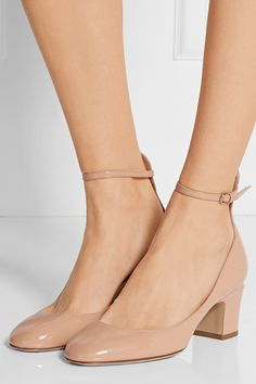 Valentino   Tan-Go patent-leather pumps  $845   https://www.net-a-porter.com/us/en/product/646358