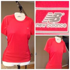 Work-out Top by New Balance Work-out Top by New Balance. Magenta/Dark Pink in color. Size small. 100% Polyester.  Laying flat Arm to Arm is 17.  The length is 24.5. Good condition with normal wear. ✨ALL OFFERS ✨ through the Offer button only. Non smoking home. New Balance Tops Tees - Short Sleeve