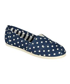 Another great find on #zulily! Polka Dot Blue Tammy Slip-On Shoe by Breckelle's #zulilyfinds