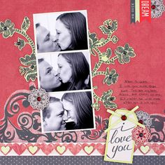 PS I Love You Scrapbook Layout Page Idea from Creative Memories. Products available through February 2013, while supplies last!  ____Detailed Instructions:  http://projectcenter.creativememories.com/photos/ps_i_love_you/ps-i-love-you-scrapbook-layout-page-idea.html