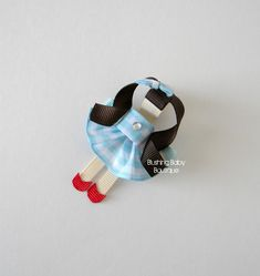 Inspired by Dorothy Hair Clip- Wizard of Oz- Wicked Witch-- Princess Hair Clip