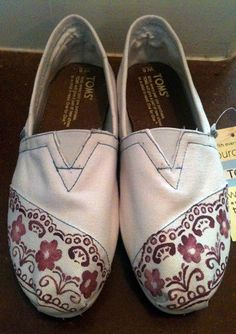 Hand Painted Shoes - Lace