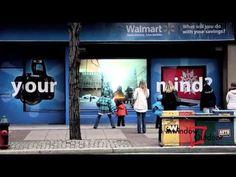 Walmart interactive digital signage by Inwindow Outdoor - YouTube